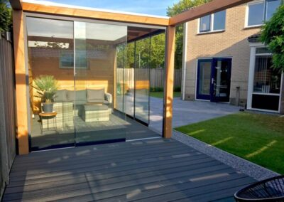 Tuinkamer met glas